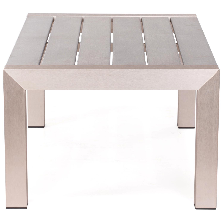 Brushed Aluminum Coffee Table: Cosmopolitan Patio Coffee Table