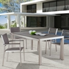 Metropolitan Outdoor Woven Armchair - Brushed Aluminum - ZM-701865