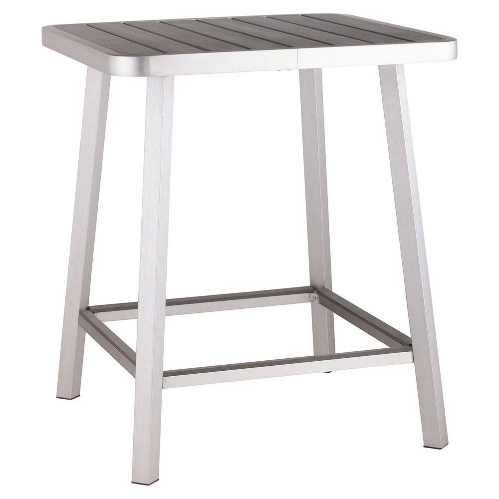 megapolis brushed aluminum bar table dcg stores. Black Bedroom Furniture Sets. Home Design Ideas
