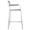 Megapolis Brushed Aluminum Bar Arm Chair - ZM-703185