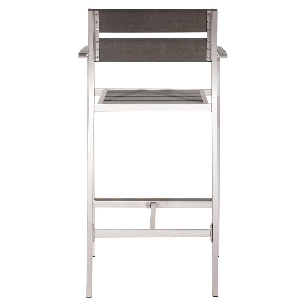 megapolis brushed aluminum bar arm chair dcg stores. Black Bedroom Furniture Sets. Home Design Ideas