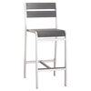 Megapolis Brushed Aluminum Bar Armless Chair - ZM-703186