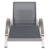 Metropolitan Chaise Lounge - Brushed Aluminum - ZM-703187