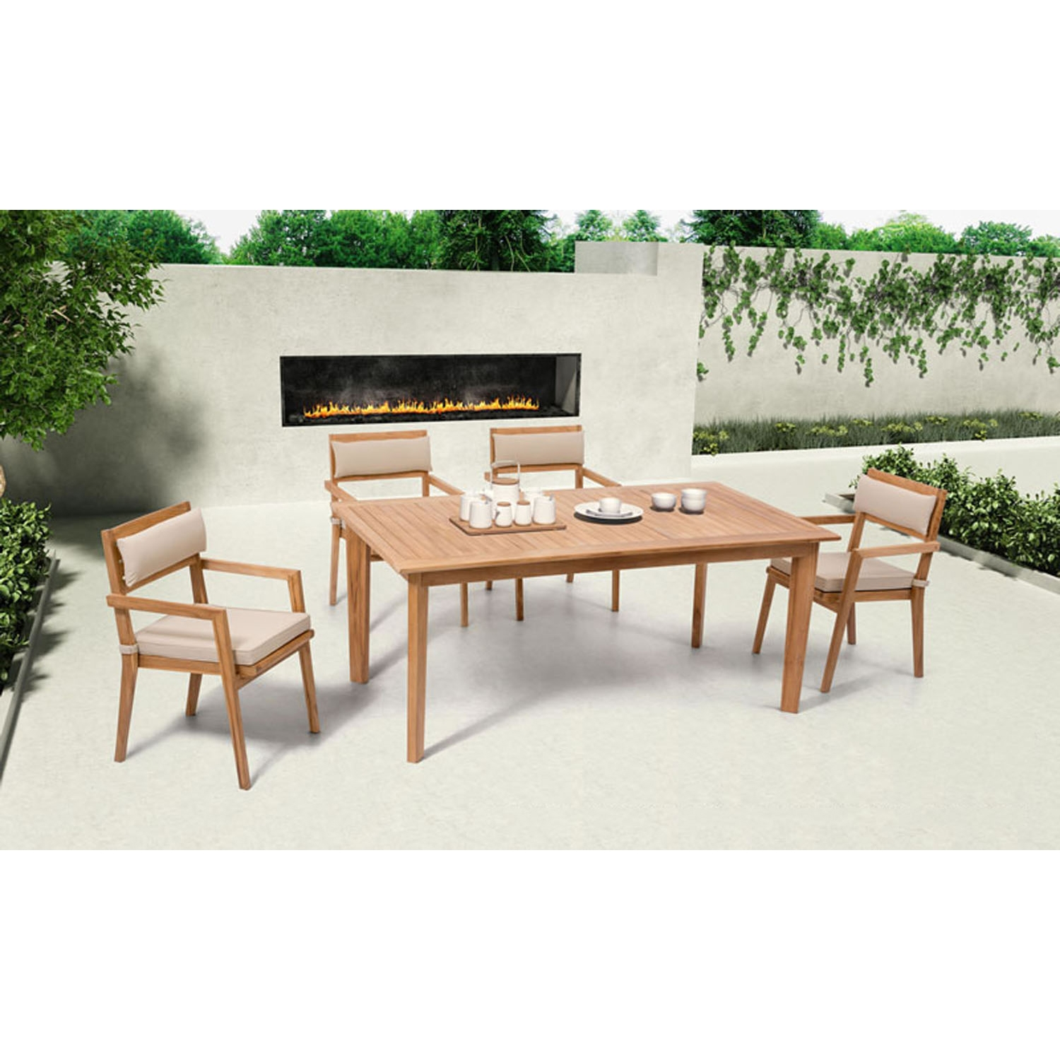 Nautical 5-Piece Dining Set - Natural - ZM-70355-NAUTICAL