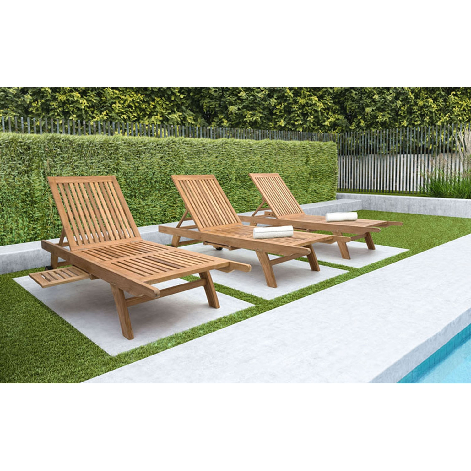 Starboard Chaise Lounge - Natural - ZM-703560