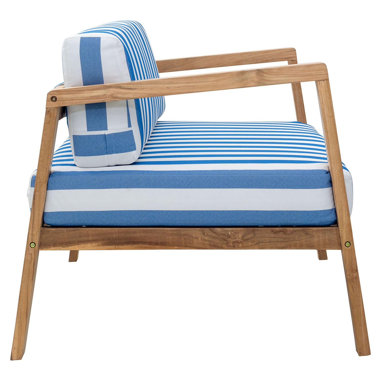 Bilander Arm Chair Cushion Blue And White Dcg Stores