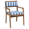 Nautical Chair Seat Cushion - Blue and White - ZM-703568