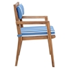 Nautical Chair Back Cushion - Blue and White - ZM-703567