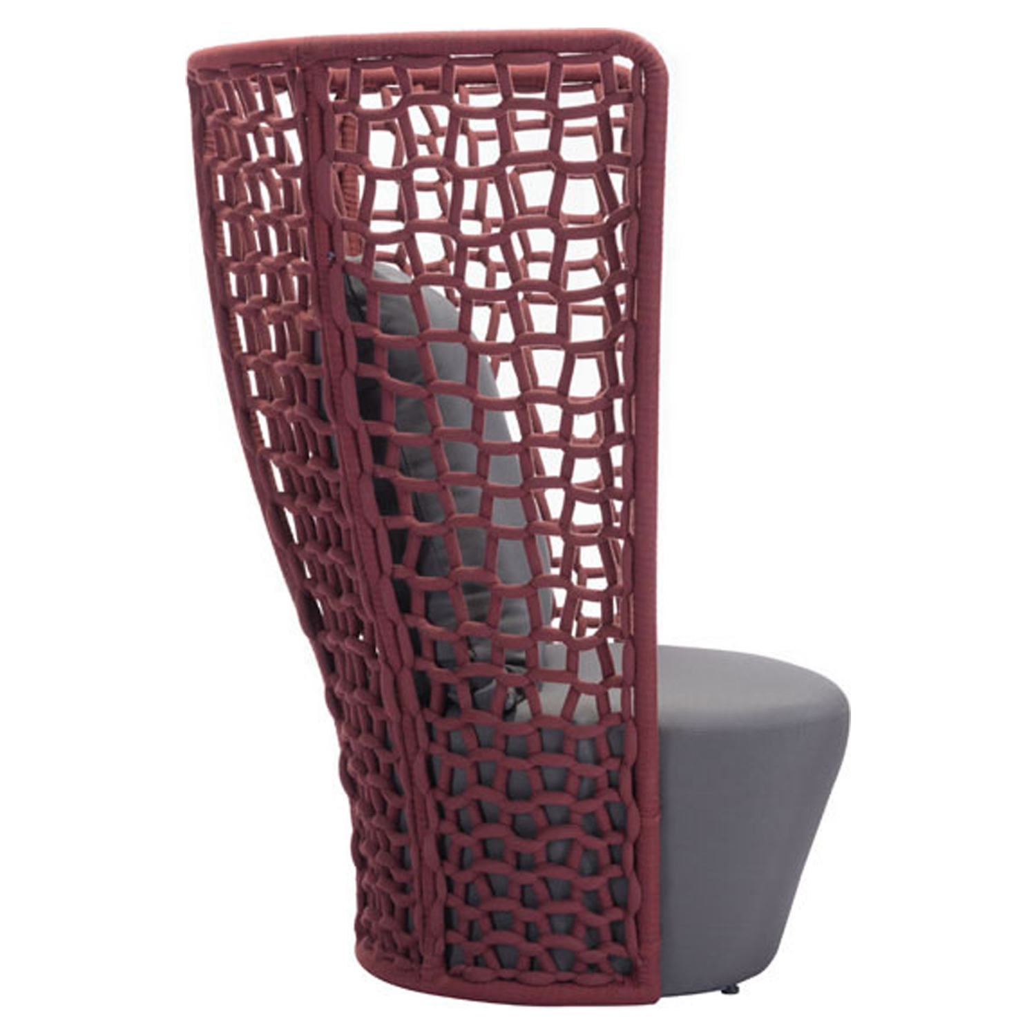 Faye Bay Beach Chair - Cranberry and Gray - ZM-703579