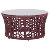 Faye Bay Beach Coffee Table - Cranberry and Granite - ZM-703580