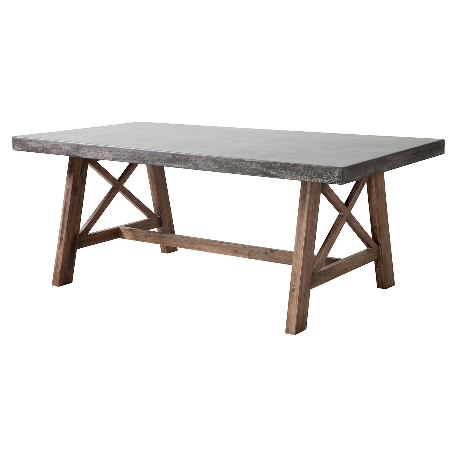Ford Rectangular Dining Table - Cement and Natural - ZM-703594