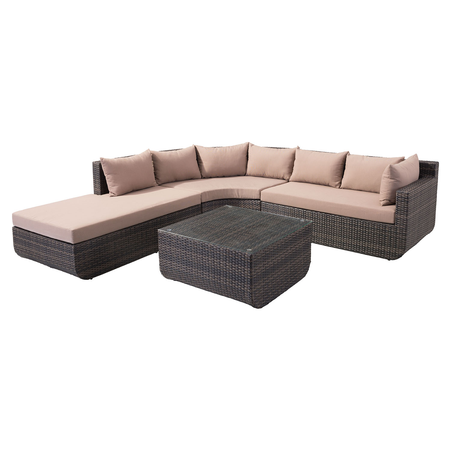 Captiva Sectional Set - Brown and Beige - ZM-703622