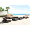 Delray Reclining Loveseat - Brown and Beige - ZM-703629