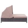 Siesta Key Double Chaise Lounge - Brown and Beige - ZM-703633