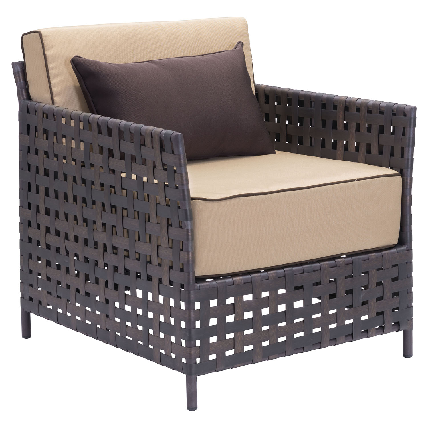 Pinery Arm Chair - Brown and Beige - ZM-703637