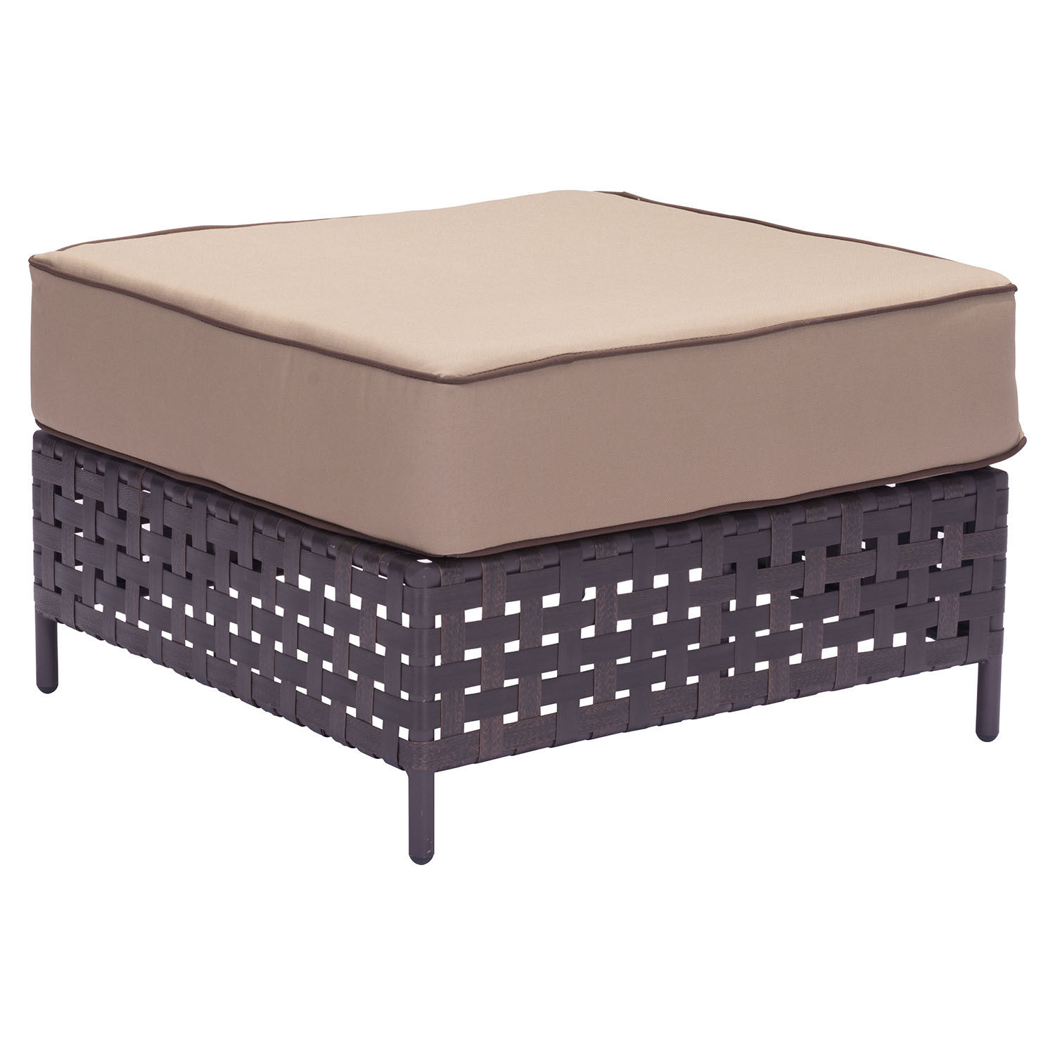 Pinery Ottoman Brown And Beige Dcg Stores