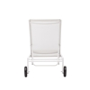 Castle Peak Chaise Lounge - White - ZM-703664