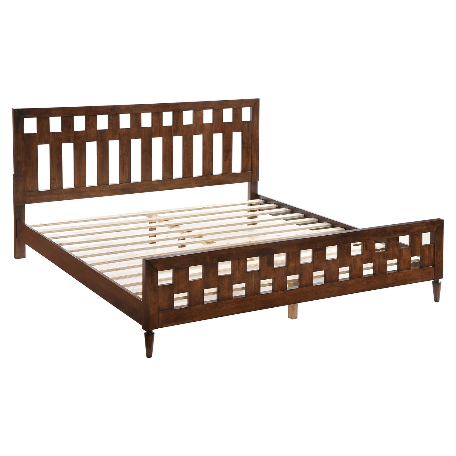 LA Walnut Bed - ZM-80030-BED