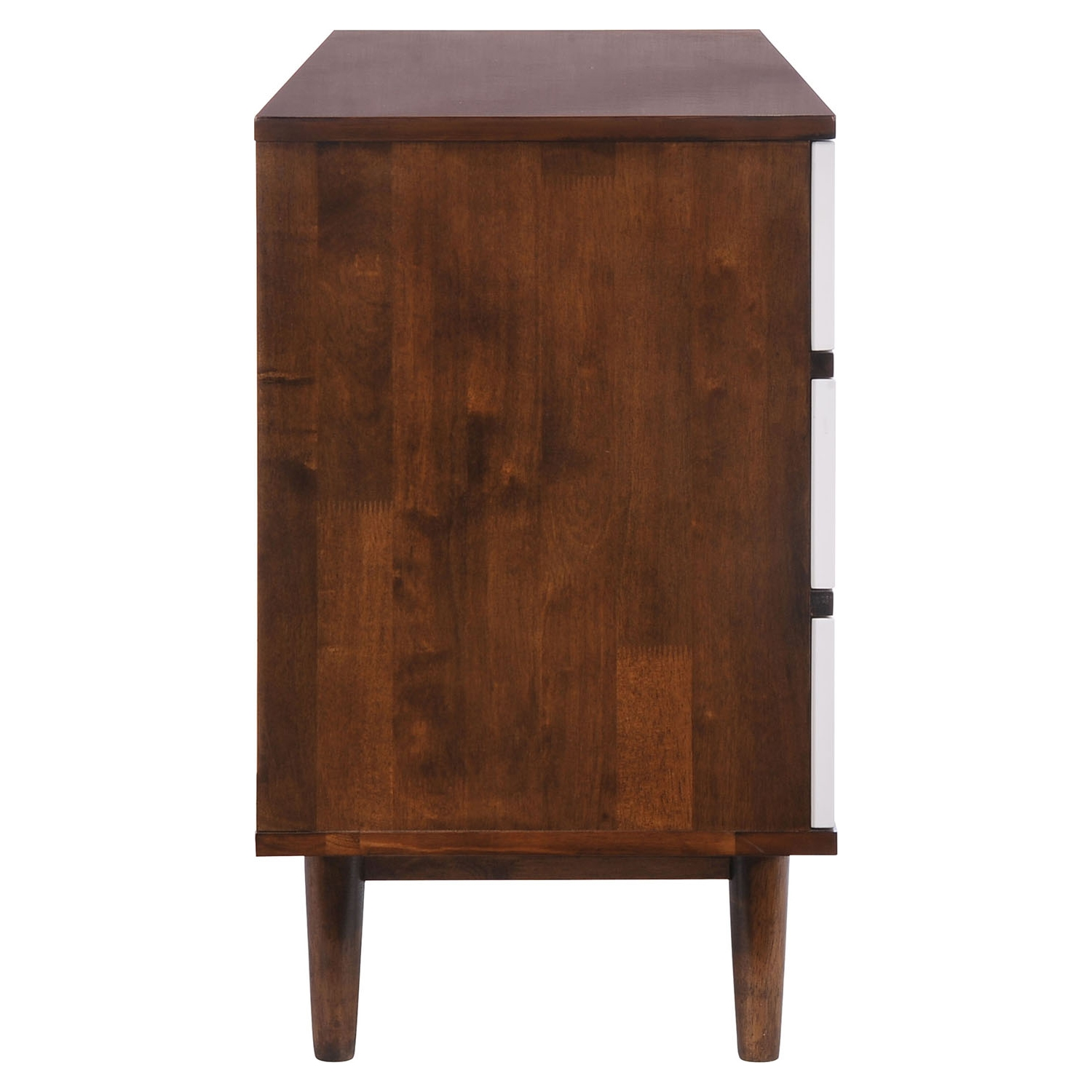 LA Double Dresser - Walnut and White - ZM-800332
