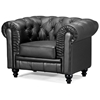 Modern classic armchair - Aristocrat Classic Tufted Leather Armchair Zm 90010x