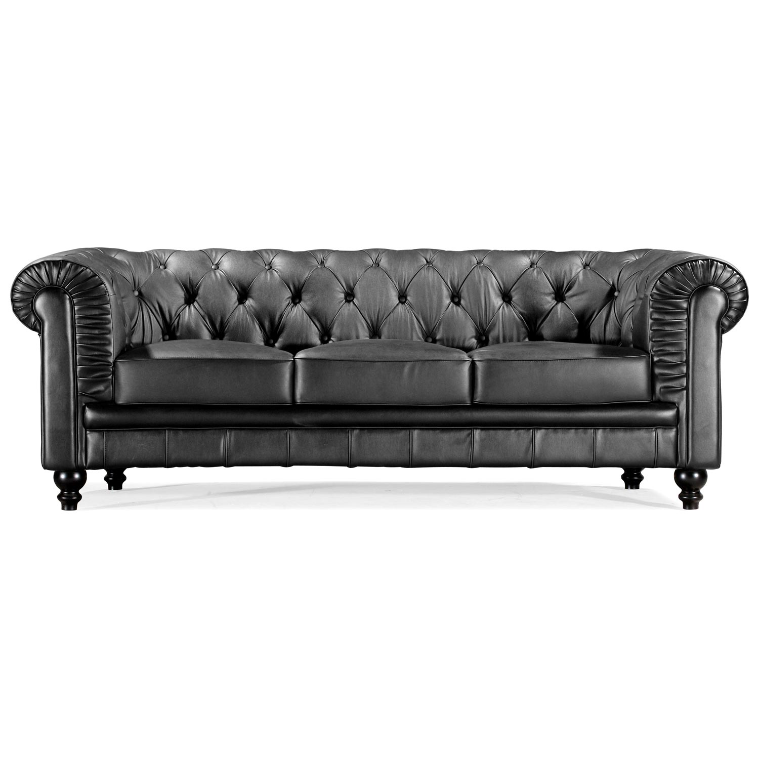 Aristocrat classic tufted leather sofa dcg stores for Traditional leather sofas sale