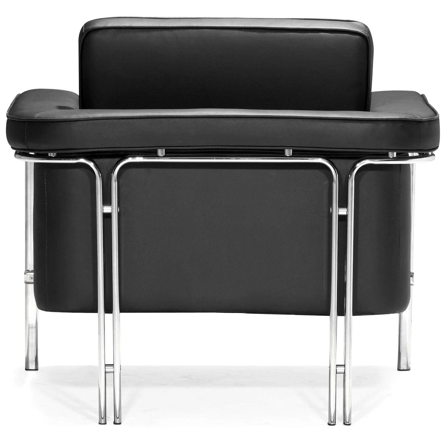 Singular Modern Armchair - Chrome Steel, Black - ZM-900160