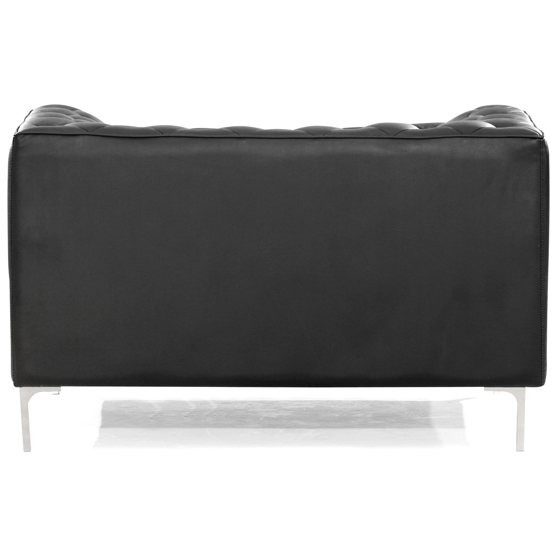 Providence Tufted Armchair Chrome Steel Black Dcg Stores