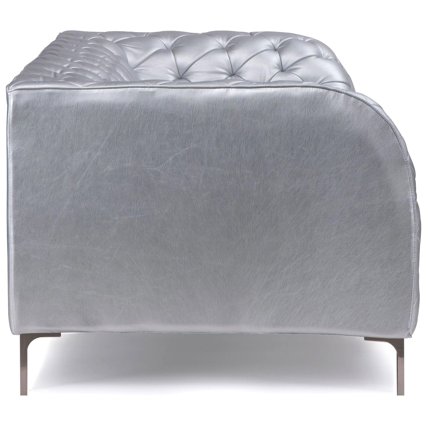 Providence Tufted Armchair - Chrome Steel, Silver - ZM-900276