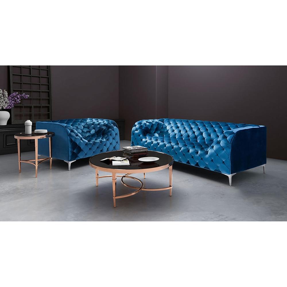 Providence Sofa Tufted Blue Velvet Dcg Stores
