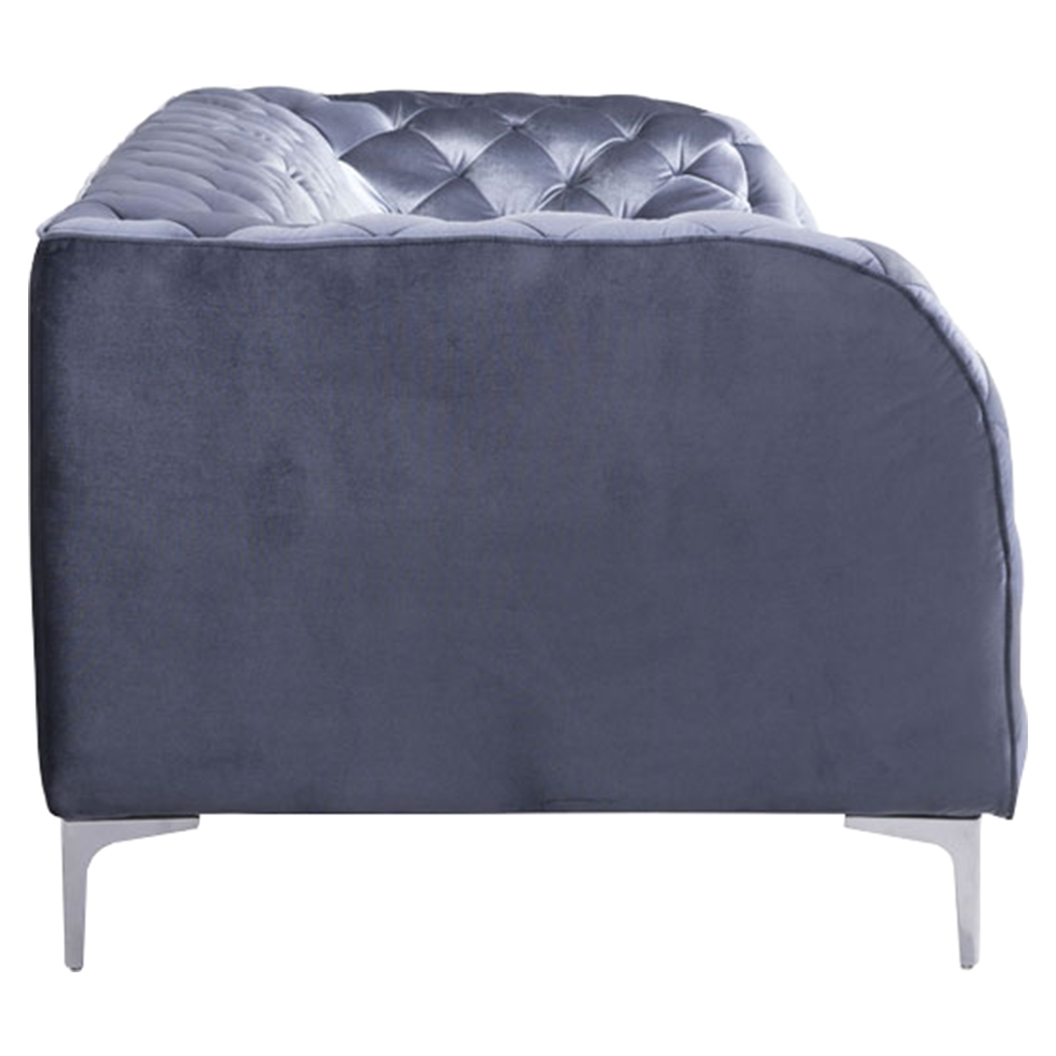 Providence Sofa - Tufted, Gray Velvet - ZM-900280