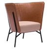 Assange Occasional Chair - Coffee and Beige - ZM-98087