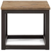 Antique square side table -  Civic Center Square Side Table Antique Metal Planked Wood Top Zm 98120