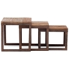 Civic Center Nesting Tables - Antique Metal, Planked Wood Top - ZM-98121