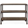 Mission Bay 3-Level Shelf - Antique Metal, Distressed Natural - ZM-98142