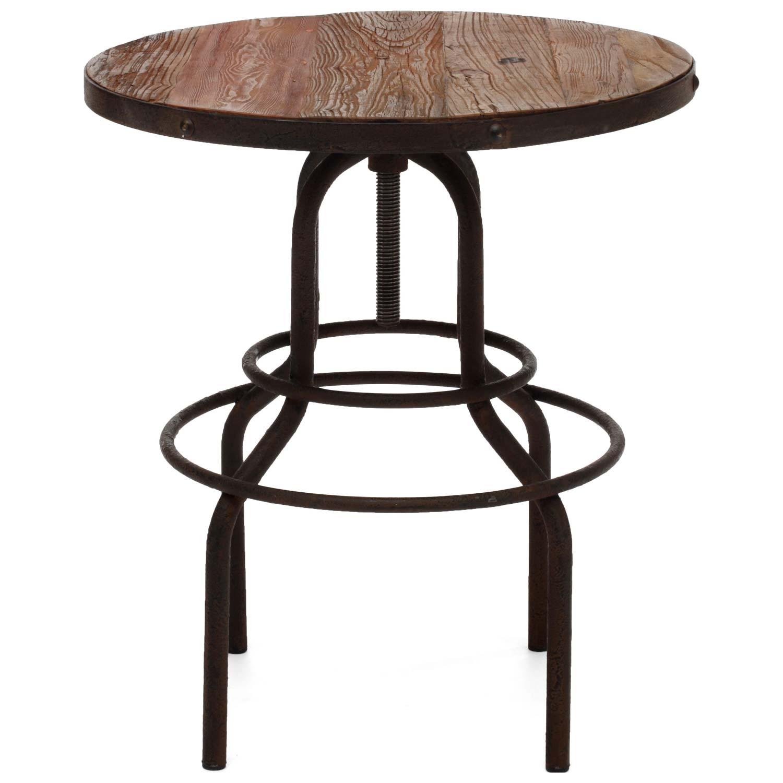 peaks bistro table antique metal distressed dcg stores