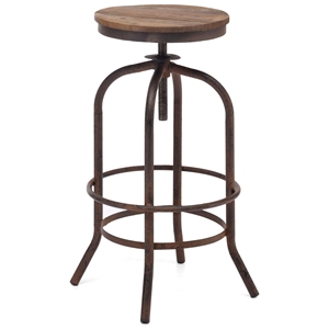 "Twin Peaks 28"" Backless Bar Stool - Distressed Natural"