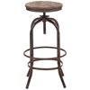 "Twin Peaks 28"" Backless Bar Stool - Distressed Natural - ZM-98183"