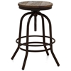 "Twin Peaks 24"" Backless Counter Stool - Distressed Natural - ZM-98184"