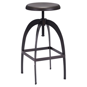 Aristotle Antique Black Barstool