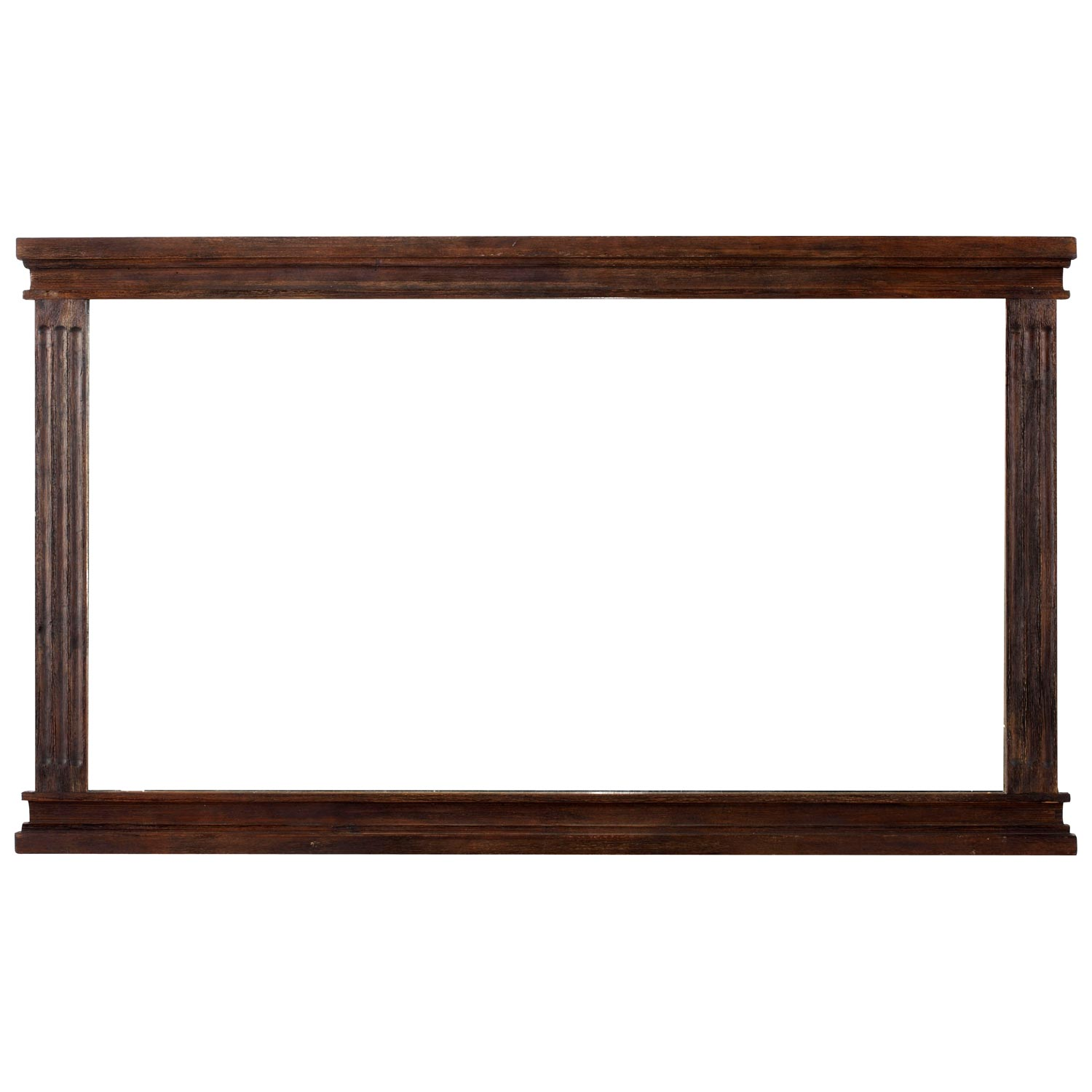The City Landscape Mirror - Dark Brown Wood Frame