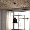 Bronze Ceiling Lamp - Black Metal - ZM-98246