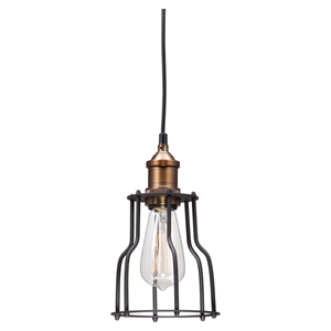 Aragonite Ceiling Lamp - Black, Copper