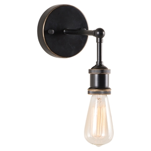 Miserite Wall Lamp - Antique Black Gold, Copper