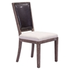 Market Dining Chair - Brown and Beige - ZM-98379