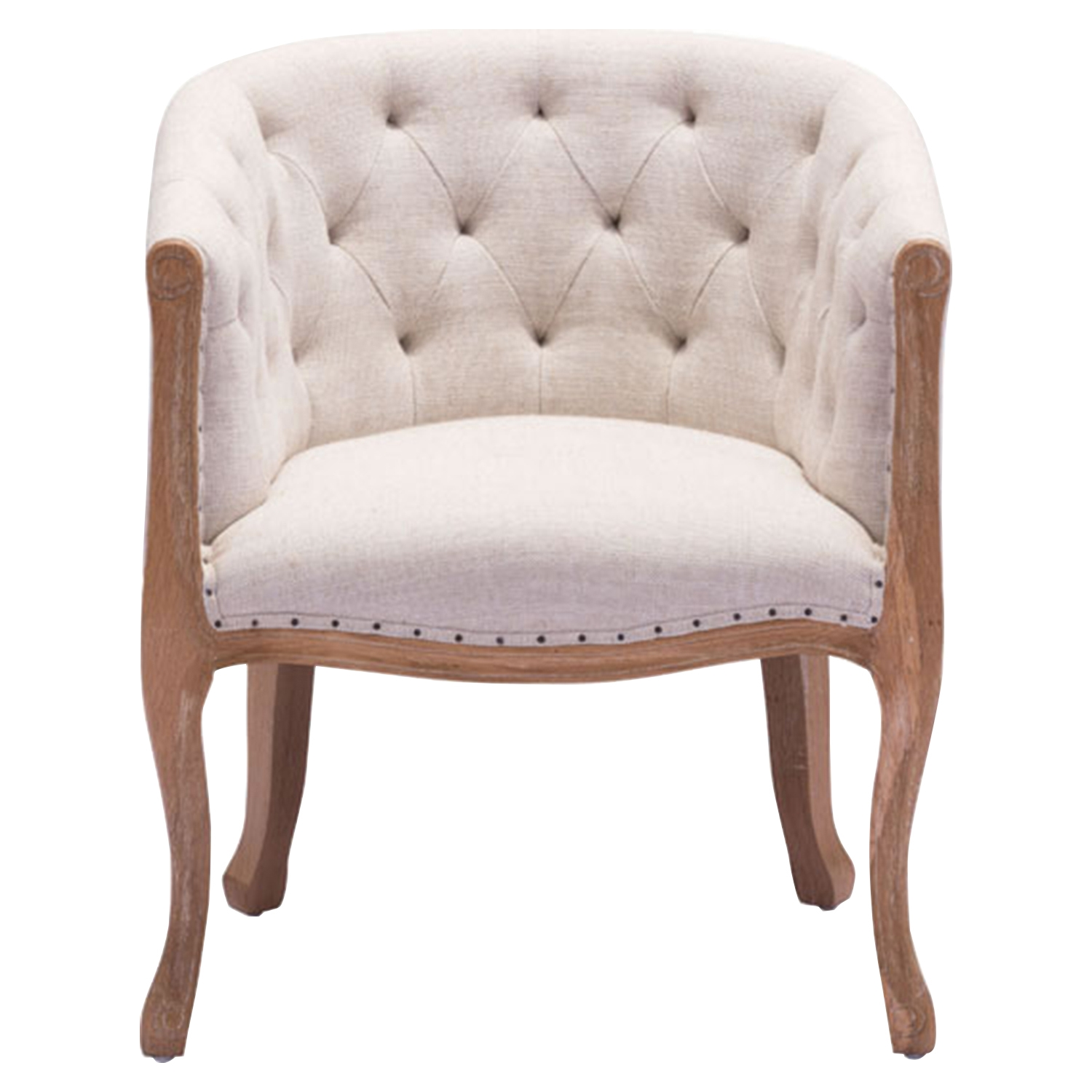 Shotwell Dining Chair - Tufted, Beige - ZM-98380