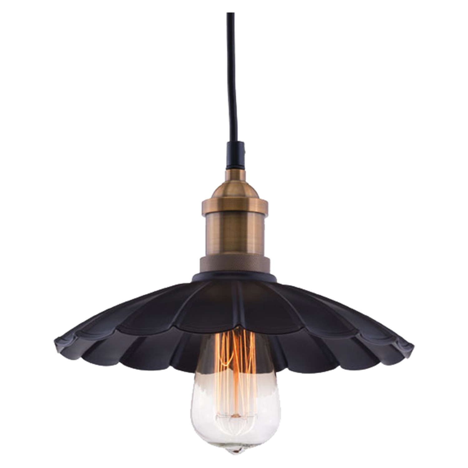 Hamilton Ceiling Lamp - Antique Black, Copper - ZM-98411