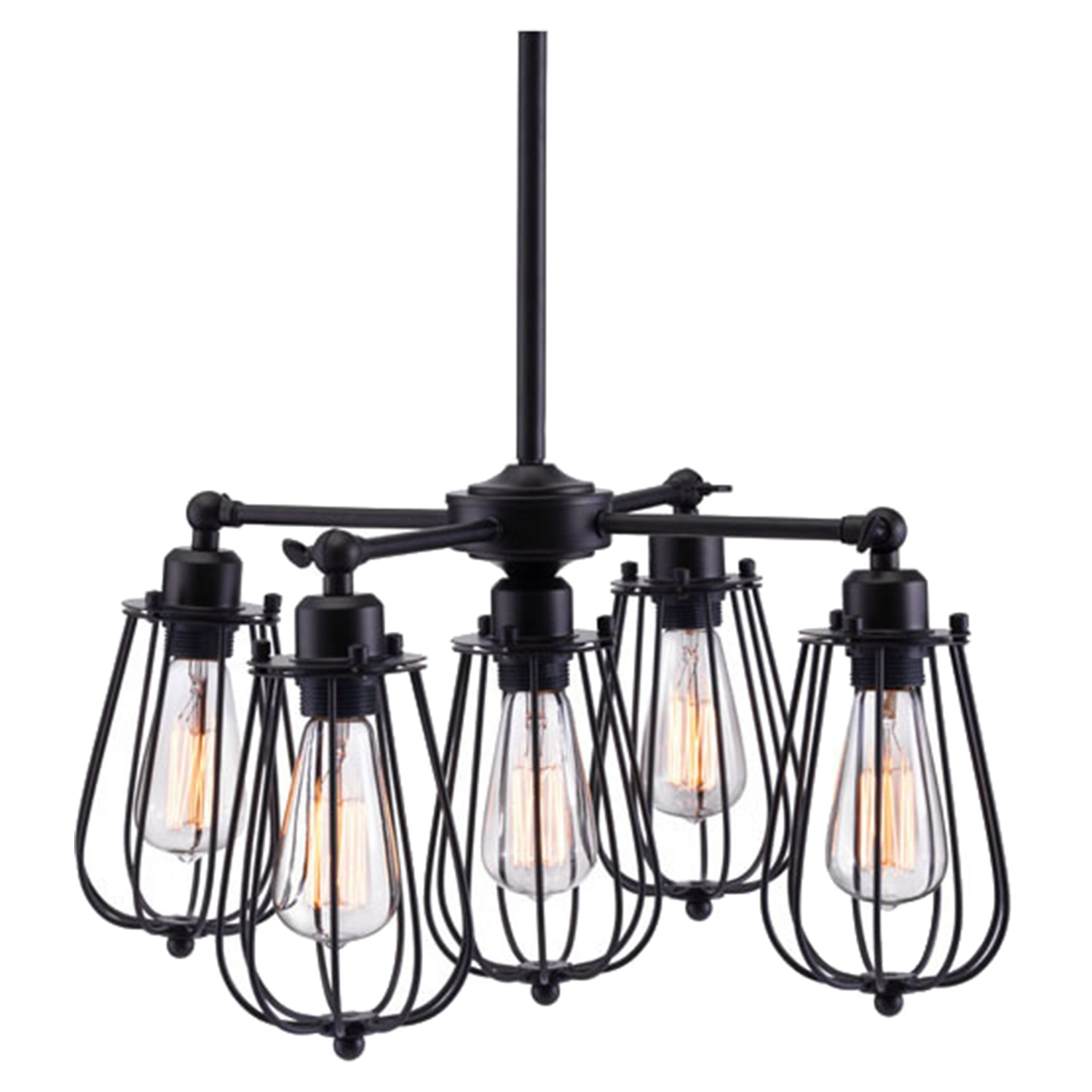 Porirua Distressed Black Ceiling Lamp - ZM-98424