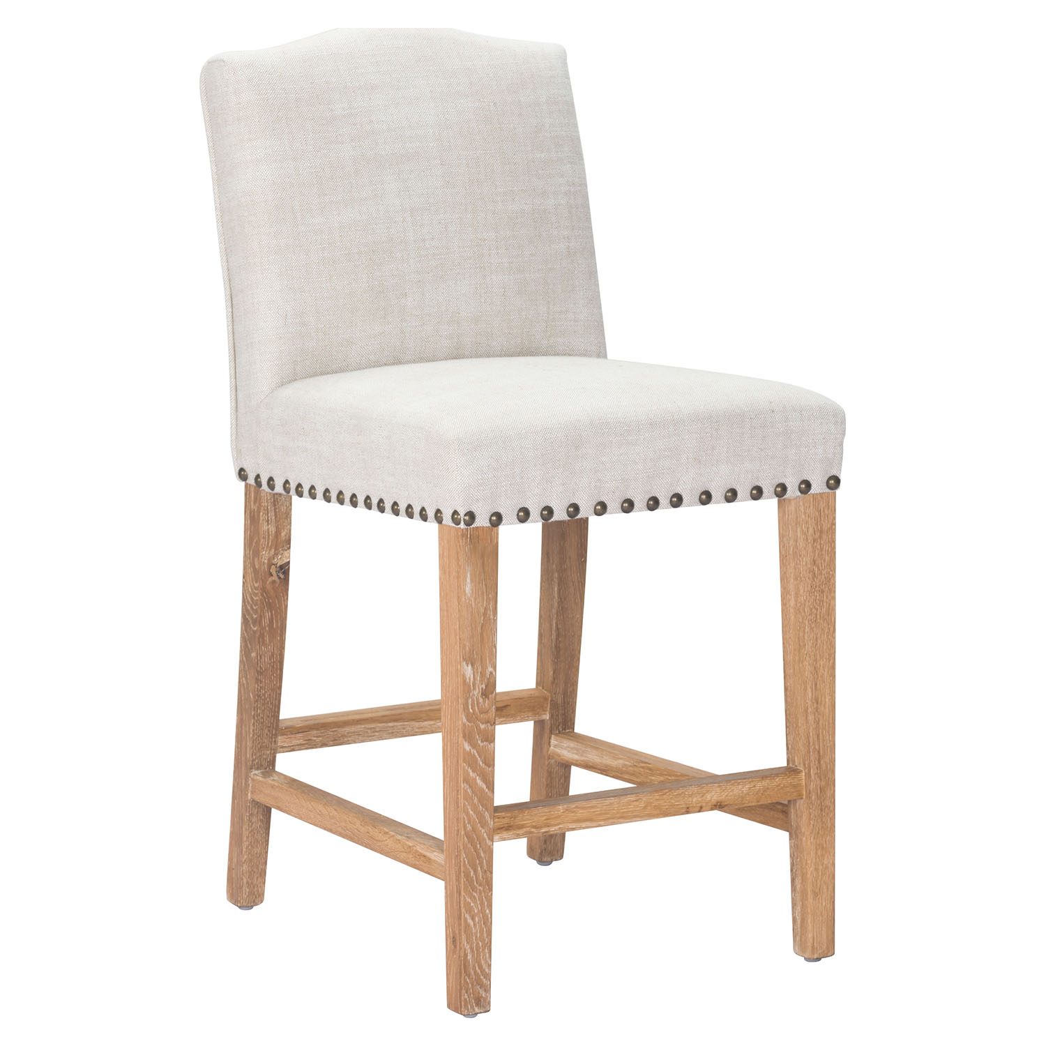 Pasadena Counter Chair Nailheads Beige Dcg Stores