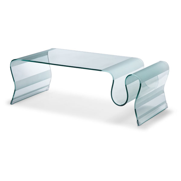 DISCOvery Free Flowing Glass Coffee Table