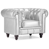 Aristocrat Tufted Armchair - Silver - ZM-900102